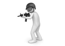 SWAT assault. 3d characters isolated on white background series Stock Photos