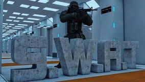 Swat men Stock Image