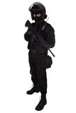 SWAT officer in black uniform Royalty Free Stock Photos