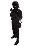 SWAT officer in black uniform Royalty Free Stock Photos