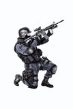 SWAT officer. Special weapons and tactics SWAT team officer with his gun Stock Image