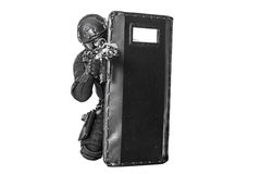 Free SWAT Officer With Ballistic Shield Stock Photography - 60780162