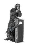 SWAT officers with ballistic shield Stock Image