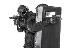 SWAT officers  with ballistic shield Royalty Free Stock Image