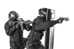Free SWAT Officers With Ballistic Shield Royalty Free Stock Image - 60780126