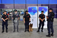 The swat and the police dog Royalty Free Stock Photo
