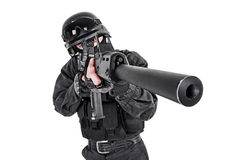 SWAT police officer Stock Images