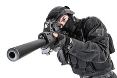 SWAT police officer Stock Photography