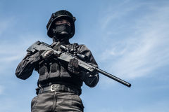 SWAT police sniper Royalty Free Stock Photography