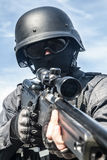 SWAT police sniper Stock Photography