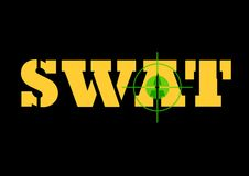Swat sign and rifle sight Royalty Free Stock Photo