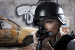 Swat soldier Royalty Free Stock Photo