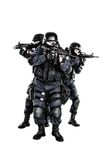SWAT team in action. Special weapons and tactics (SWAT) team in action Royalty Free Stock Images