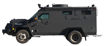 SWAT Team Armored Truck Vehicle Isolated