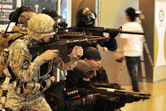 Swat Team And Delta Force. Some costumers at Coscon 2008 Suntec City Mall Singapore Stock Image