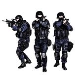 SWAT-Team in der Aktion lizenzfreies stockbild