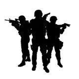 SWAT-Team in der Aktion Stockfotografie