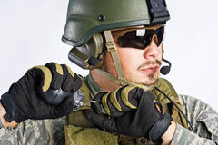SWAT Team Officer Stock Images