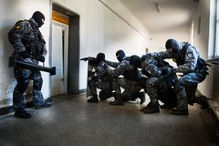 Free SWAT Team. Special Forces Intervention Royalty Free Stock Photos - 122512768