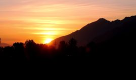 Swat Valley sunset Royalty Free Stock Photography