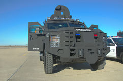 SWAT Vehicle. An armored vehicle used by law enforcement SWAT (Special Weapons and Tactics) teams Stock Photography