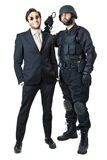 Swat vs business Stock Image