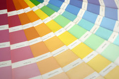 swatch χρωμάτων Στοκ Φωτογραφία