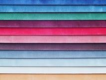Swatch χρώματος βελούδου Στοκ Εικόνες