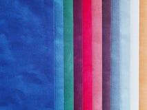Swatch χρώματος βελούδου Στοκ Φωτογραφία