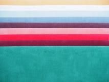 Swatch χρώματος βελούδου Στοκ εικόνες με δικαίωμα ελεύθερης χρήσης