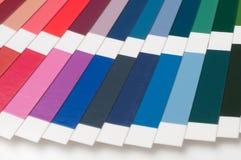 Swatch χρώματος, κατάλογος Χρωματισμένη παλέτα του χρώματος Στοκ Φωτογραφία