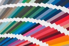 Swatch χρώματος, κατάλογος Χρωματισμένη παλέτα του χρώματος Στοκ φωτογραφία με δικαίωμα ελεύθερης χρήσης