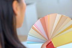 Swatch χρώματος κινηματογραφήσεων σε πρώτο πλάνο Στοκ φωτογραφία με δικαίωμα ελεύθερης χρήσης