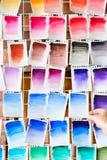 Swatch χρώματος το μελάνι παλετών χρωμάτων σύρει το υπόβαθρο τέχνης Στοκ Εικόνα