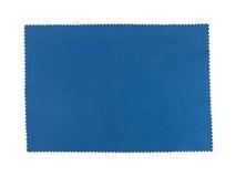 Swatch голубой ткани, pinking края ножниц Стоковые Фотографии RF