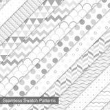 Swatch bezszwowi wzory ilustracja wektor