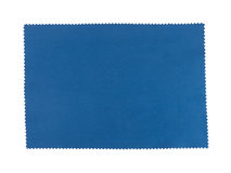 Swatch of blue fabric, pinking shears edge Royalty Free Stock Photos
