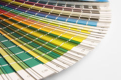Swatch colour CMYK. Open CMYK sample colors catalogue royalty free stock photography