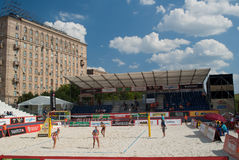 SWATCH FIVB WORLD TOUR 2011 - Moscow Grand Slam Stock Images