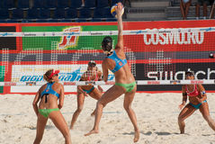 SWATCH FIVB WORLD TOUR 2011 - Moscow Grand Slam Royalty Free Stock Photos