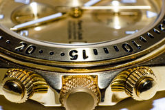Swatch macro. Golden swatch, extreme macro photo Royalty Free Stock Images