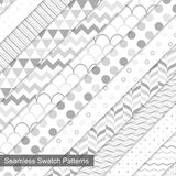 Swatch seamless patterns. Royalty Free Stock Photography