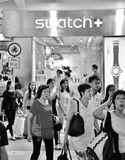 Swatch Shop Exterior in Hong Kong Royalty Free Stock Photography