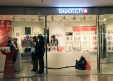 Swatch shop in hong kong Stock Photo