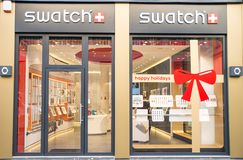 Swatch shop Royalty Free Stock Photography