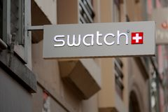 Swatch shop sign Stock Images