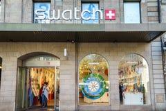 Swatch sklep Zdjęcia Royalty Free