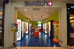 Swatch sklep w Kot Kinabalu Fotografia Royalty Free
