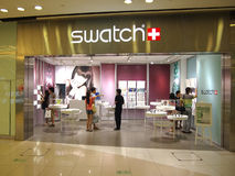 Swatch  Store And Customer Royalty Free Stock Image
