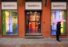 SWATCH WATCH RETAIL OUTLET Royalty Free Stock Photography